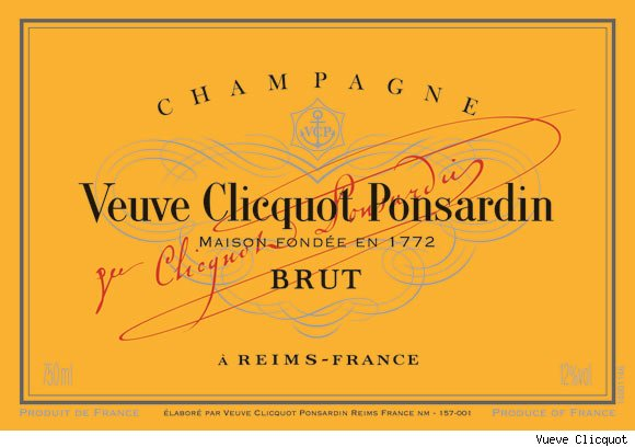 Vueve Clicquot's Yellow Label Champagne
