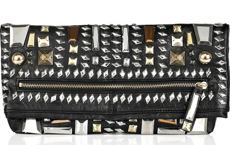 Morcheba Embellished Leather Clutch