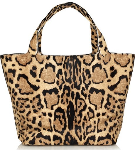 Alaia Printed Calfhair Tote