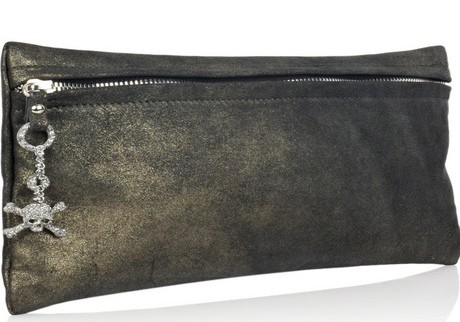 Giuseppe Zanotti Suede Skull Clutch