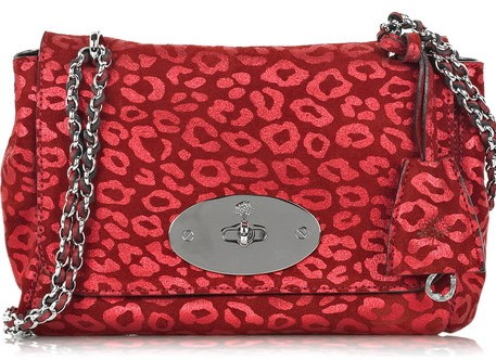 Mulberry Lily Leopard Shoulder Bag