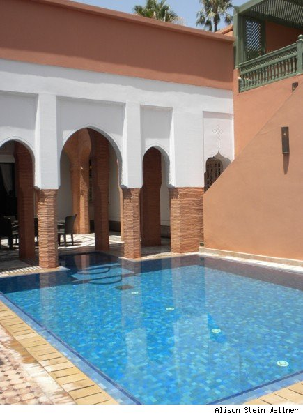 The private pool in a three-bedroom riad