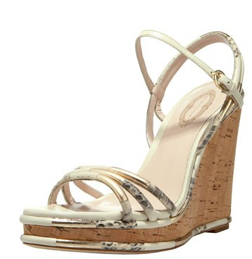 elie tahari cork wedge