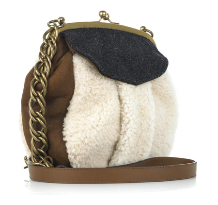 shearling handbag