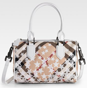 Burberry Check Stars Satchel