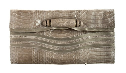 r&amp;y augousti watersnake clutch