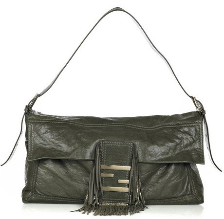 Fendi Baguette Maxi Leather Bag