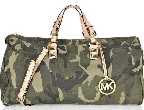 Michael Kors Camouflage Leather Carryall