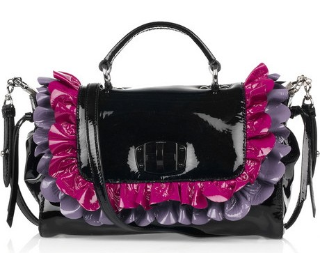 Miu Miu Patent Leather Ruffle Bag