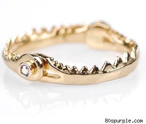 Hinged Fish Jaw Ring, $32