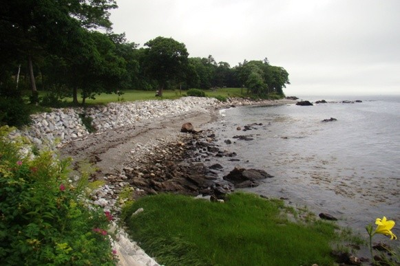 Along the water at the Samoset Resort