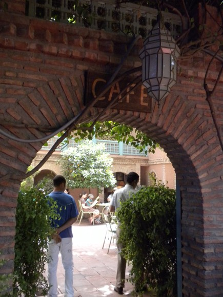 Cafe at Jardin Majorelle