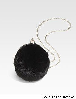 Christian Louboutin Eden Vision Fur Ball Clutch