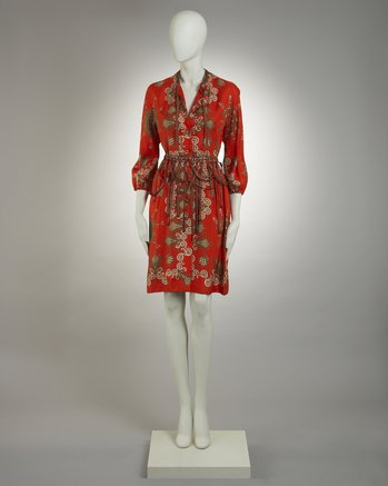 Hermes 1970s Silk Dress