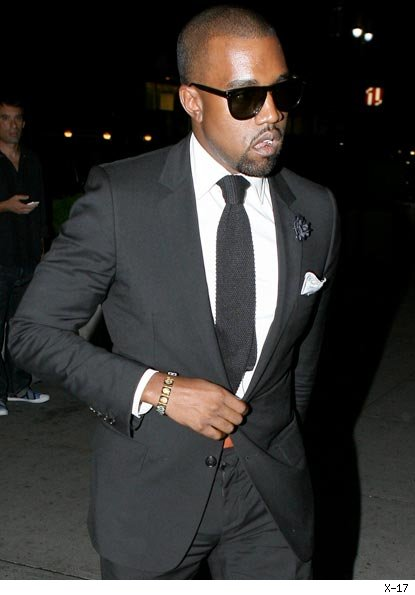 Kanye West wearing Dior Home as part of his Rosewood Movement.