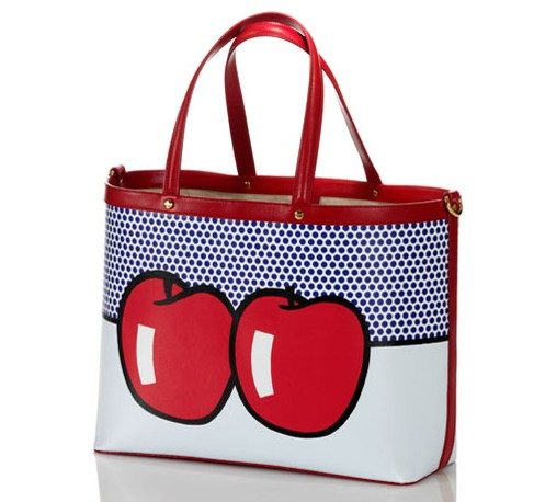 Borbonese & Lichtenstein Two Apples Tote