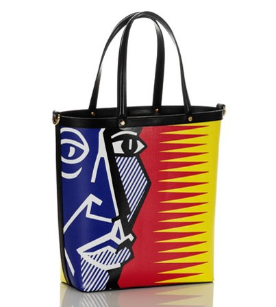 Borbonese & Lichtenstein Blue Head Tote
