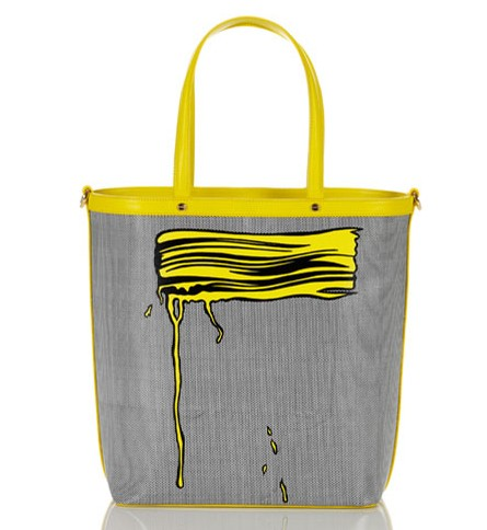 Borbonese & Lichtenstein Yellow Brush Stroke Tote