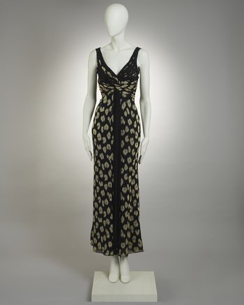 Valentino Couture Animal Print Dress