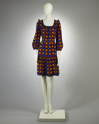 Yves Saint Laurent Rive Gauche Silk Dress