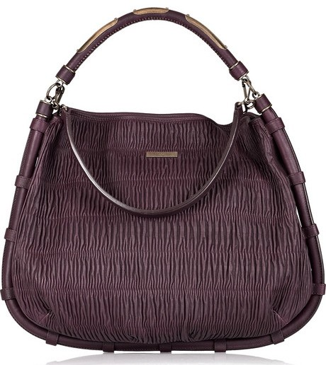 Burberry Prorsum Callaway Pleated Leather Bag