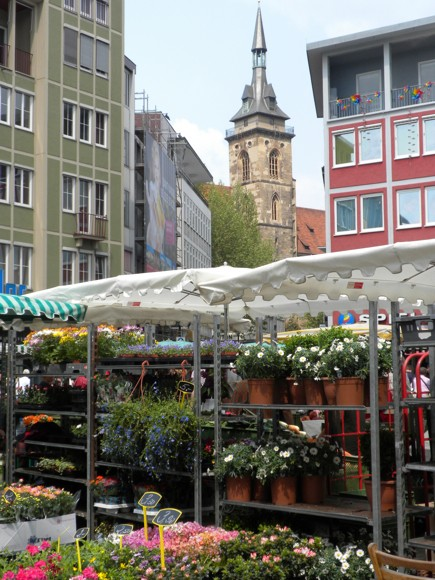 Downtown Stuttgart: Flower Market