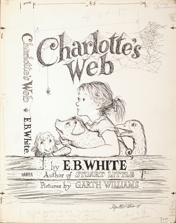 garth williams charlottes web original cover art