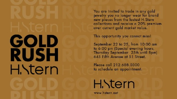 The jewelry boutique is holding a Gold Rush event at their New York City and