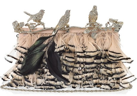 Valentino Feather Clutch