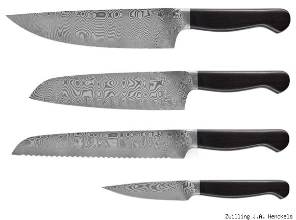 j.a. henckels damascus knives
