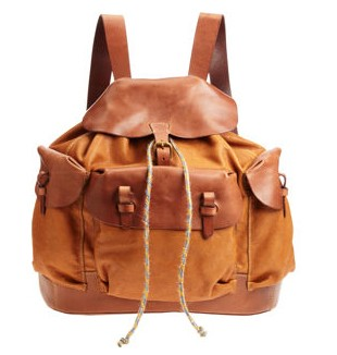 Henry cuir Sherpa Backpack