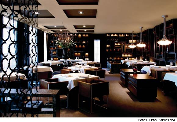 The Enoteca restaurant at the Hotel Arts Barcelona