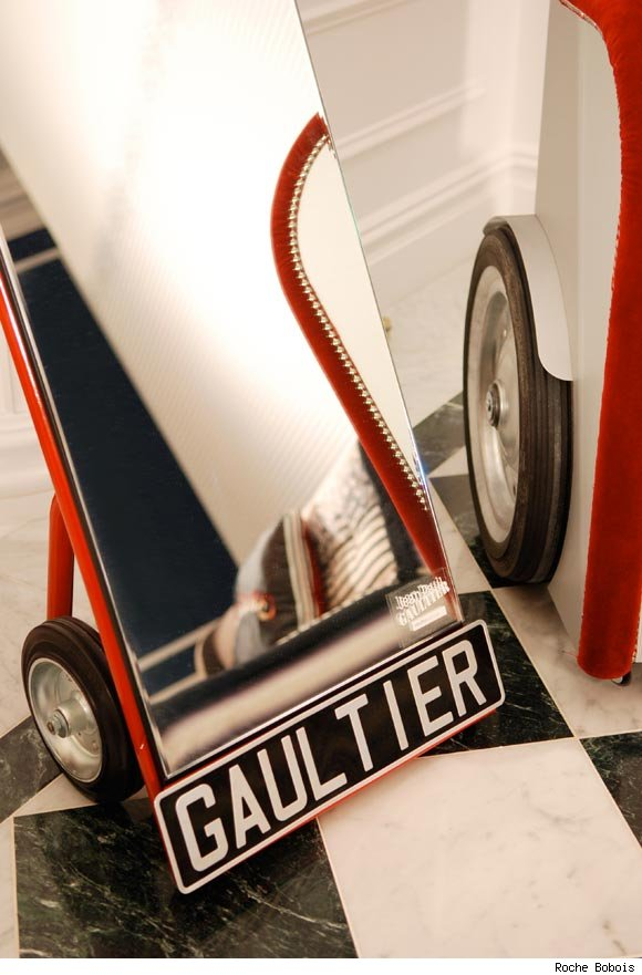 Jean Paul Gaultier's Hand-Trolley Mirror for Roche Bobois