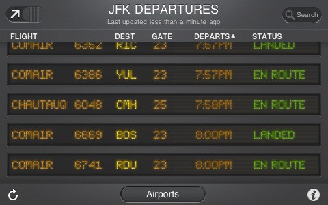 Flightboard iPhone App