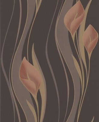 Peach Chocolate and Orange Lily Wallpaper