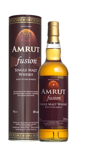 Amrut Fusion Single-malt.
