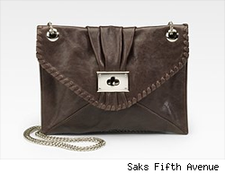 Be & D Chain Strap Lambskin Clutch