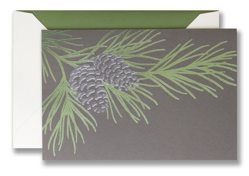 Pewter Pine Bough