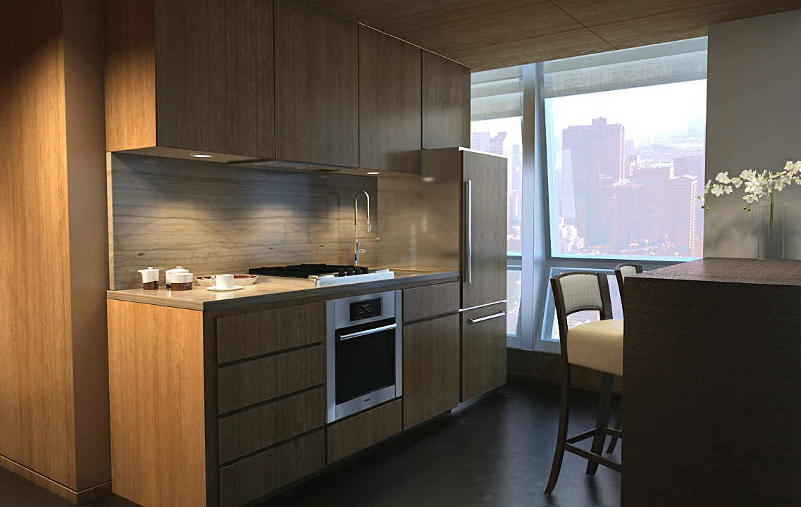 A kitchen in one of The Setai Fifth Avenue's luxury suites