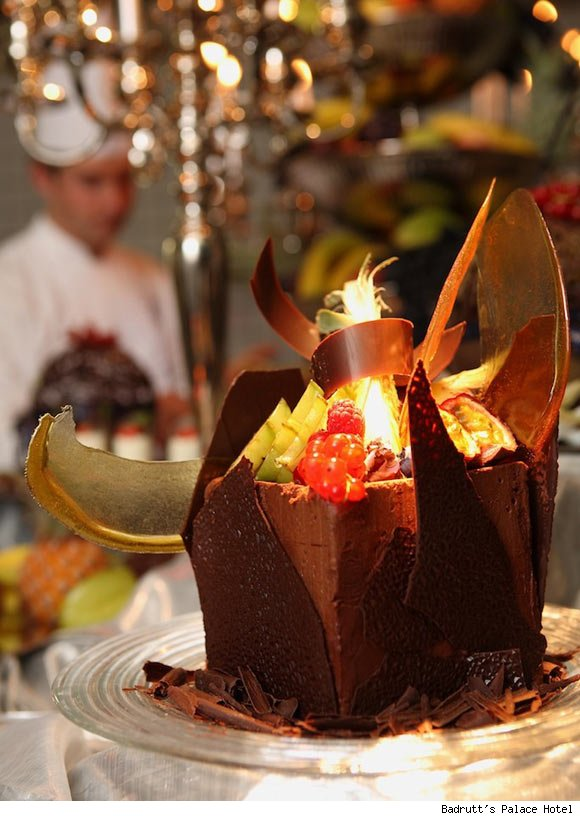 Magnificent chocolate creations at Le Restaurant