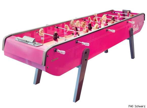 The Limited Edition Barbie Foosball Table