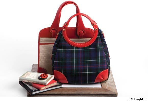 J.McLaughlin's Dorchester Tote and Wool Porthole Bag