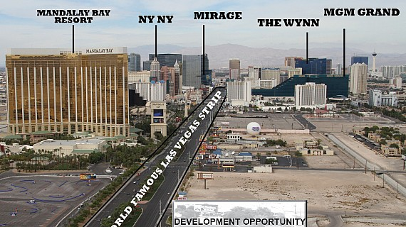 las vegas strip land