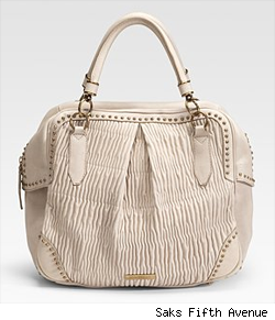 Burberry Plissé Leather Tote