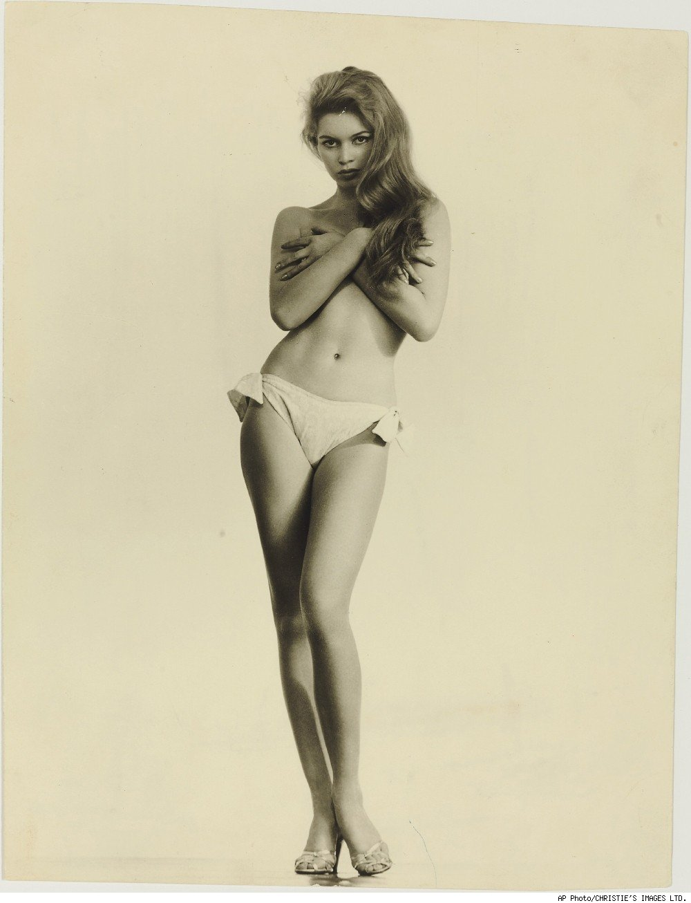 A a photograph of Brigette Bardot that appeared on the March 1958 cover of Playboy magazine