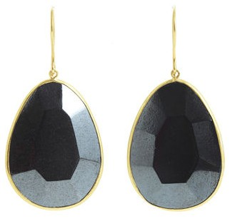 Pippa Small Hematite Drop Earrings