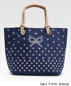 Anya Hindmarch Junie Canvas Bow Tote