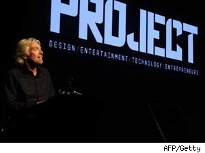 Sir Richard Branson launches the world's first digital magazine exclusively for the iPad.