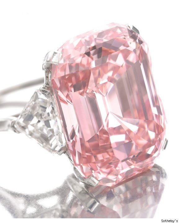 Sotheby's sells 24.78 carat pink diamond for $46 million, setting a world record