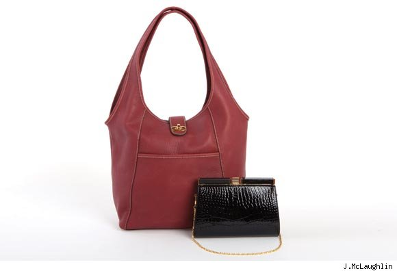 J.McLaughlin's Slouchy Leather Hobo Bag and the Gold Metal Frame Faux Alligator Clutch